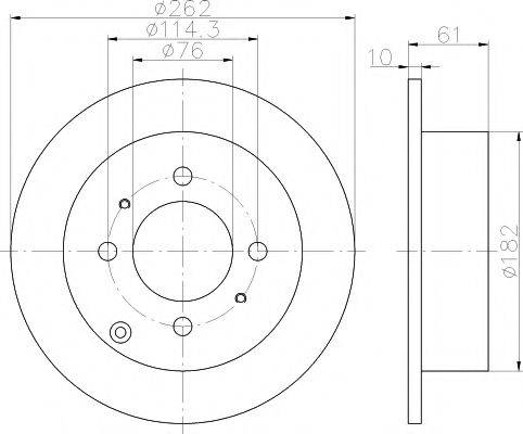 Тормозной диск MINTEX MDC1854