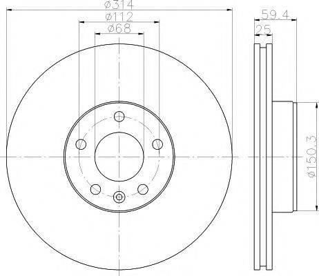 Тормозной диск MINTEX MDC1742