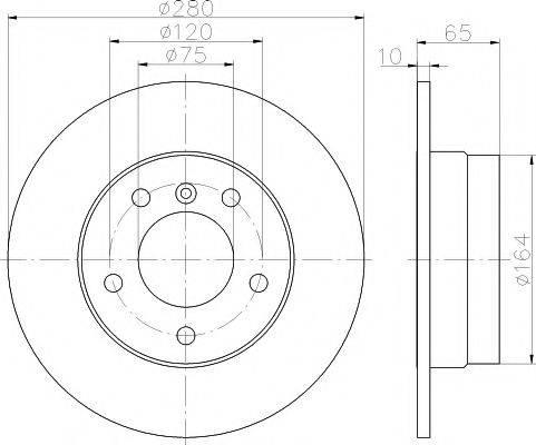 Тормозной диск MINTEX MDC1731