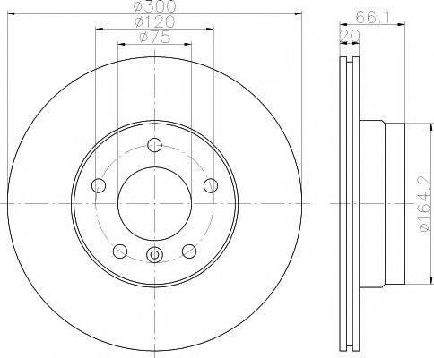 Тормозной диск MINTEX MDC1647