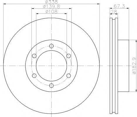 Тормозной диск MINTEX MDC1776