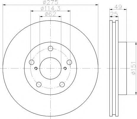 Тормозной диск MINTEX MDC1590