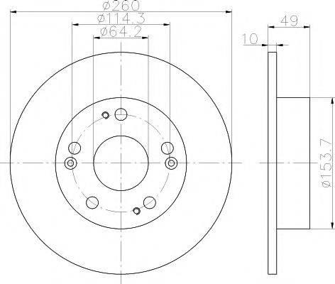 Тормозной диск MINTEX MDC1721