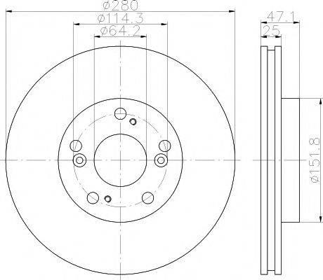 Тормозной диск MINTEX MDC1738