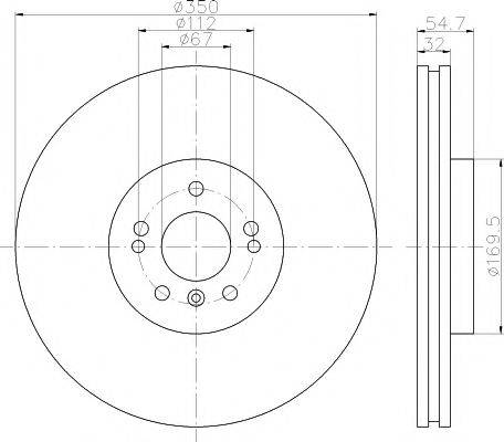 Тормозной диск MINTEX MDC2067