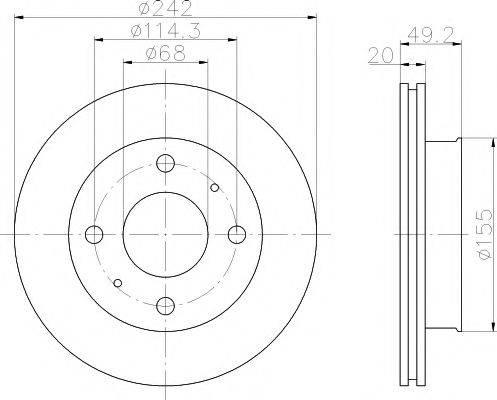 Тормозной диск MINTEX MDC583