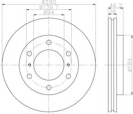 Тормозной диск MINTEX MDC2040