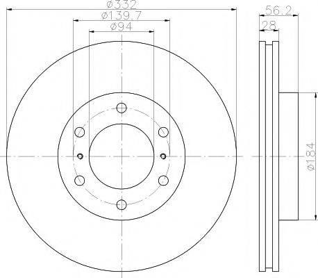Тормозной диск MINTEX MDC2039