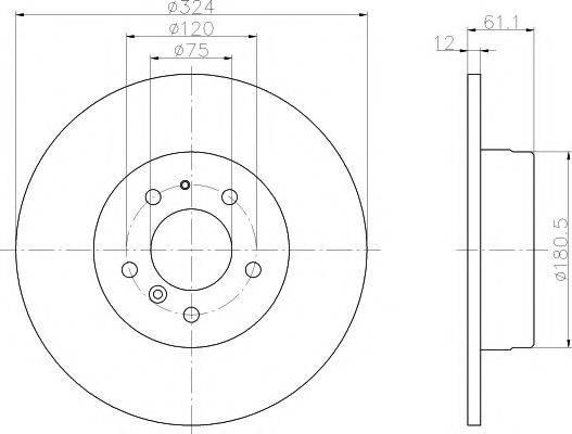 Тормозной диск MINTEX MDC834