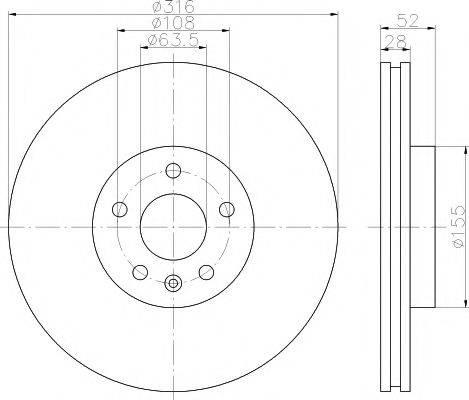 Тормозной диск MINTEX MDC1828