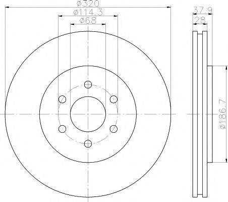 Тормозной диск MINTEX MDC1834