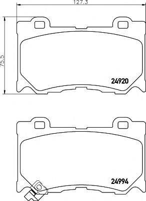Комплект тормозных колодок, дисковый тормоз MINTEX MDB3109