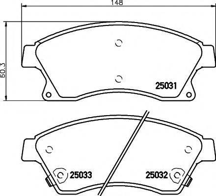 Комплект тормозных колодок, дисковый тормоз MINTEX MDB3088