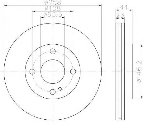 Тормозной диск MINTEX MDC1907