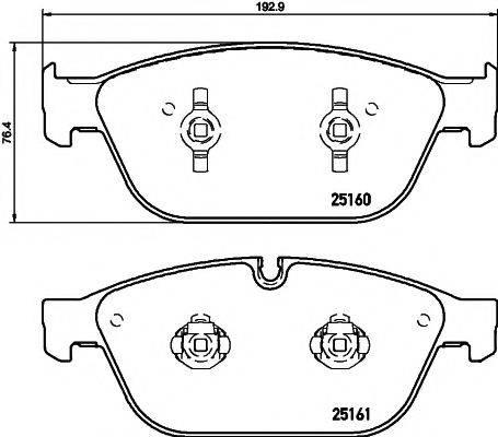 Комплект тормозных колодок, дисковый тормоз MINTEX MDB3191