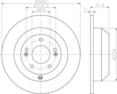 Тормозной диск MINTEX MDC2245