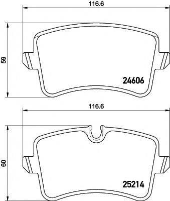 Комплект тормозных колодок, дисковый тормоз MINTEX MDB3086