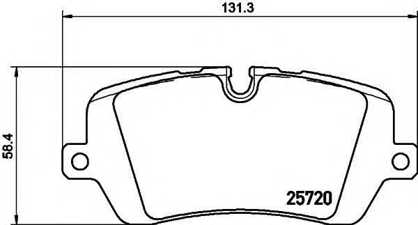 Комплект тормозных колодок, дисковый тормоз MINTEX MDB3343