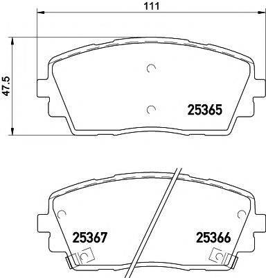 Комплект тормозных колодок, дисковый тормоз MINTEX MDB3297