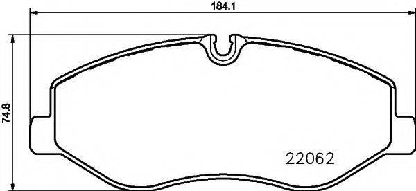 Комплект тормозных колодок, дисковый тормоз MINTEX MDB3738