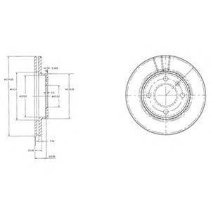Тормозной диск DELPHI BG2109