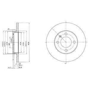 Тормозной диск DELPHI BG2116