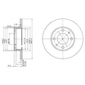 Тормозной диск DELPHI BG2147