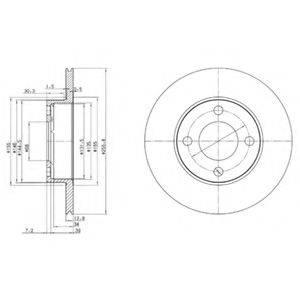 Тормозной диск DELPHI BG2215