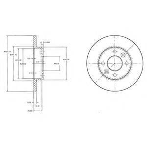 Тормозной диск DELPHI BG2217