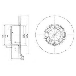 Тормозной диск DELPHI BG2265