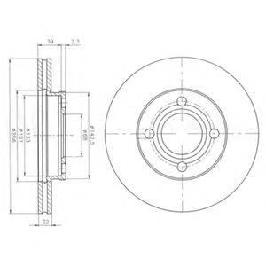 Тормозной диск DELPHI BG2272