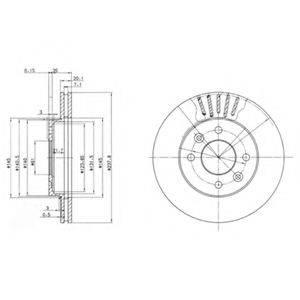 Тормозной диск DELPHI BG2282