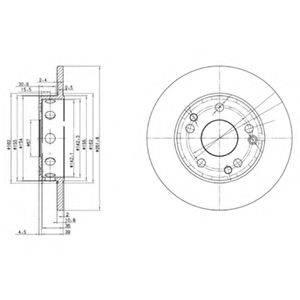 Тормозной диск DELPHI BG2288