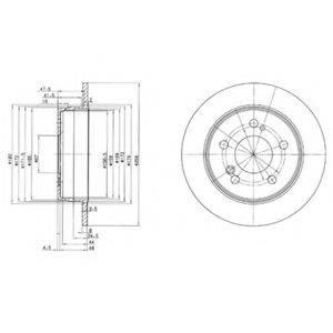 Тормозной диск DELPHI BG2291