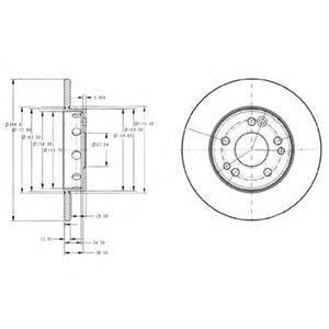 Тормозной диск DELPHI BG2314