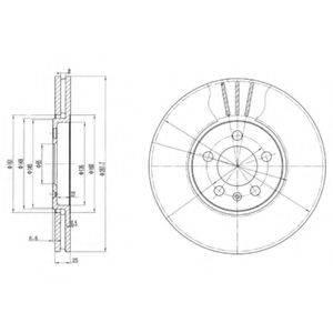 Тормозной диск DELPHI BG2729