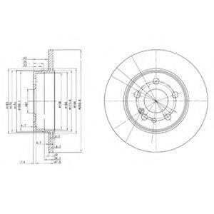 Тормозной диск DELPHI BG2738