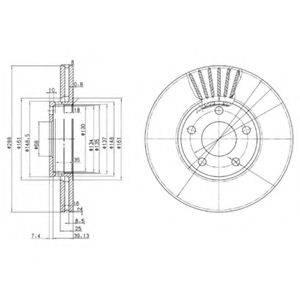 Тормозной диск DELPHI BG2745