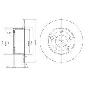Тормозной диск DELPHI BG2746