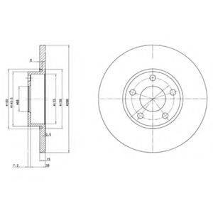Тормозной диск DELPHI BG2749