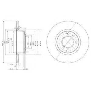 Тормозной диск DELPHI BG2752