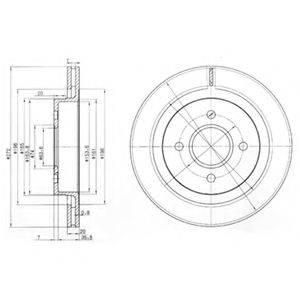 Тормозной диск DELPHI BG2758
