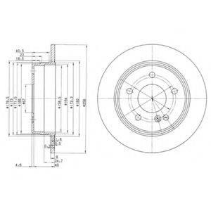 Тормозной диск DELPHI BG2761
