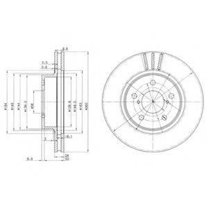 Тормозной диск DELPHI BG2767