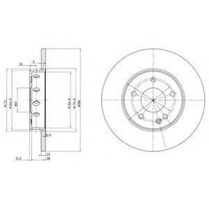 Тормозной диск DELPHI BG2769
