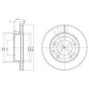 Тормозной диск DELPHI BG2779