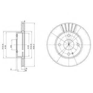 Тормозной диск DELPHI BG2802