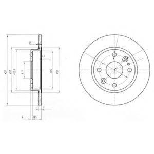 Тормозной диск DELPHI BG2803