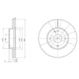 Тормозной диск DELPHI BG2804