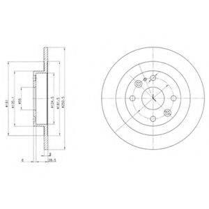 Тормозной диск DELPHI BG2805